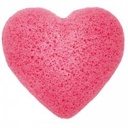 Srdce  Špongia Konjac - Ružová