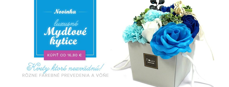 Luxusné mydlové kvety